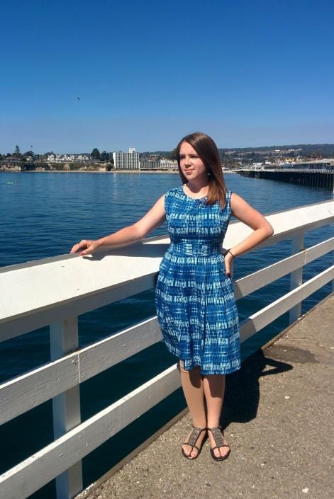 Blue Shibori Dress | Midwest Coast Sewist