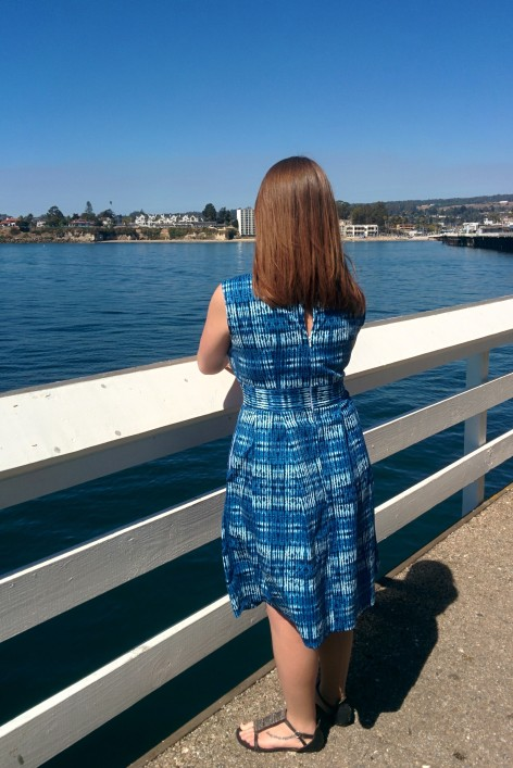 Blue Shibori Dress | Midwest Coast Sewist