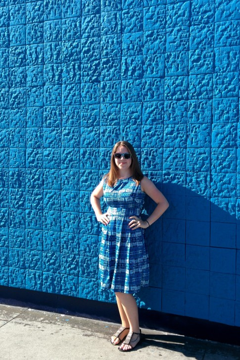 Blue Shibori Fall Dress | Midwest Coast Sewist